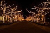 Подключение освещения зданий в Липецке